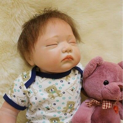 "Silicone Vinyl Reborn Newborn Dolls 20"" Lifelike Sleeping Baby Doll+clothes"