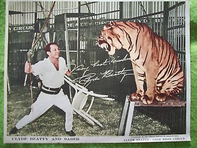 """Circus - Clyde Beatty & Saber - Colorized Print - 8 3/4"""" X 10 3/4"""""""
