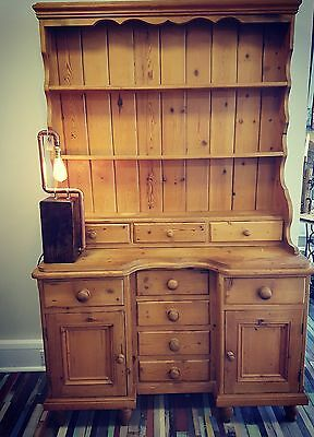 Lovely antique pine country farmhouse dresser