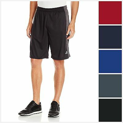 "adidas Men's Aero Knit CLIMACOOL Shorts Athletic 10"" Inseam Poly Short POCKETS"