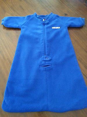 SNUGTIME LINED POLAR FLEECE COSI SLEEP BAG Tog 2 Blue VGUC Size 000 VGUC