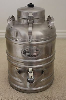 Vacuum Can Company 3 Gallon Vacuum Jug w/Spigot Stainlss Steel Aervoid Dispenser