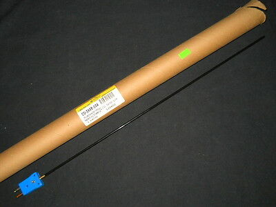"""Chemglass 18"""" x 1/8"""" PFA-Coated Type T Thermocouple Probe for 2L - 5L Reactors"""
