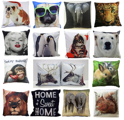 Animal Theme Home Decor Square Couch Lounge Sofa Cushion Cover Pillow Case 17x17
