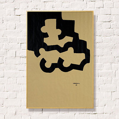 CHILLIDA. LITOGRAFIA SOBRE PAPEL CRAFT 80x56cm.