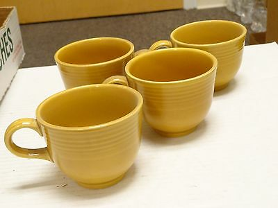 6 HOMER LAUGHLIN FIESTA COVENTRY CASUALSTONE ANTIQUE GOLD coffee cups