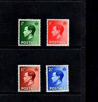 Great Britain - 1936 - King Edward Viii - 4 X Mint - Mnh - Set!