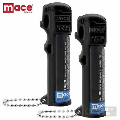 2-PACK MACE Pepper SPRAY Triple-ACTION Self-Defense w/ Key Chain 80141 FAST SHIP