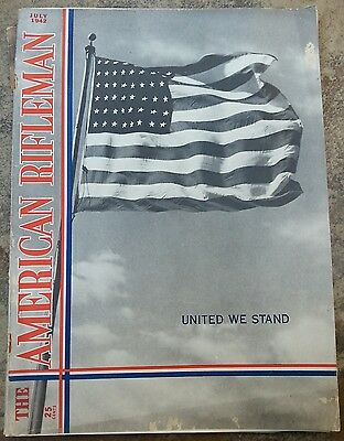 JULY 1942 AMERICAN RIFLEMAN Original Vintage Magazine COVER ONLY 48 Star Flag