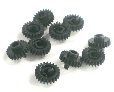 LOT X 10 BLACK Nylon 22-Tooth 10mm Precision Molded Push-Fit Cogs Gears