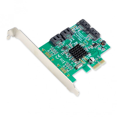 Syba SATA III 4 Port 6Gb/s PCI-e x1 Controller Card With Low Profile Brackets