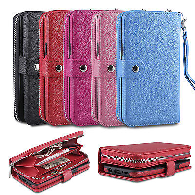 Zipper Leather Wallet Magnetic Card Case Cover For Samsung Galaxy Note 9 S9 Plus