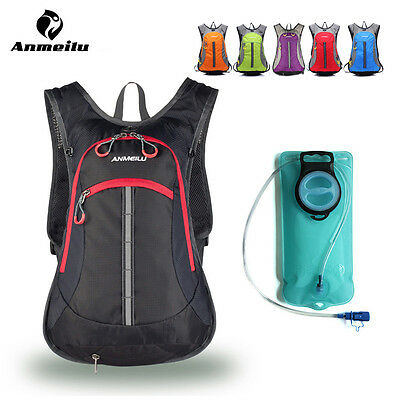 ANMEILU 15L Rainproof Running Cycling Hydration Pack Water Bladder Backpack Bag