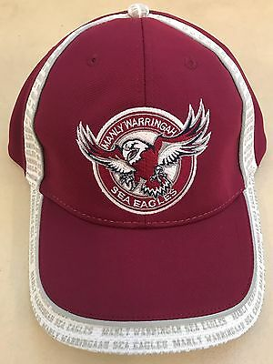 551209 Manly Sea Eagles Nrl Core Cap Maroon White With Logo Adjustable Hat