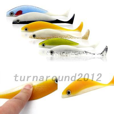 Outdoor 6Pcs SET Soft lure Saltwater Fish Lures Silicone Bait 11.5cm/11g