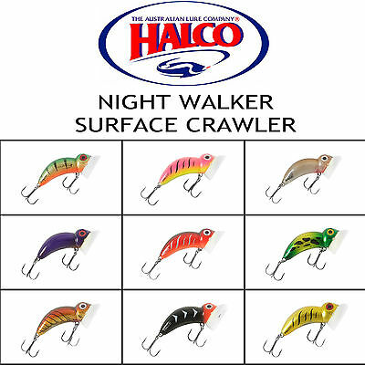 Halco Night Crawler Surface Crawler surface fishing Bass, Cod Lures