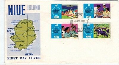 1972 NIUE  South Pacific Commission Anniversary  FDC