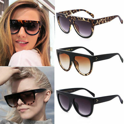 Women Inspired Flat Top Shield Tortoise Sunglasses KIM K Celebrity Eyewear Gift