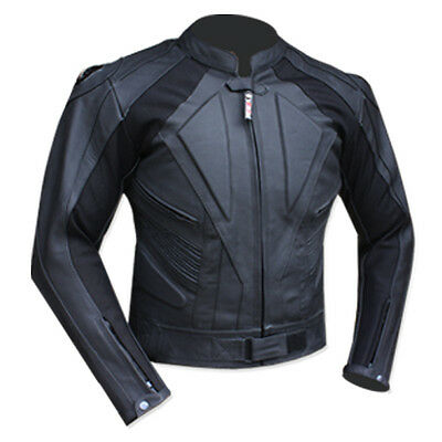 New Quality Motorbike Genuine Cowhide Real Leather Jacket With Protections