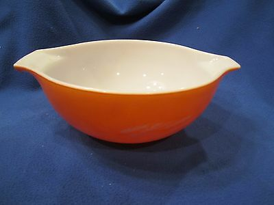 Pyrex Autumn Harvest Wheat 2.5 Quart 443 Cinderella Bowl Orange