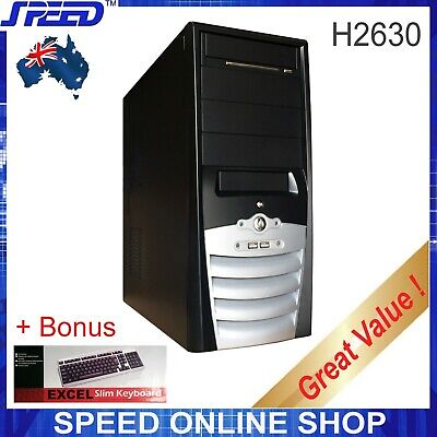 SPEED H2930 Mid-Tower PC Computer Case + Bonus Slim Keyboard