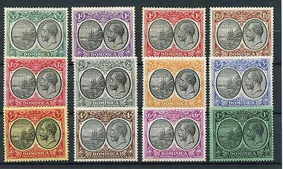 Dominica 1923-33 short set to 1s SG71/83 (exc SG78) MM cat £75