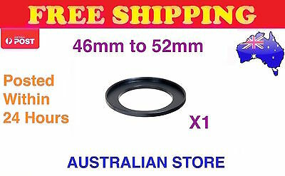 46-52mm Metal Step Up Ring Lens Adapter 46mm to 52mm for Camera Filters