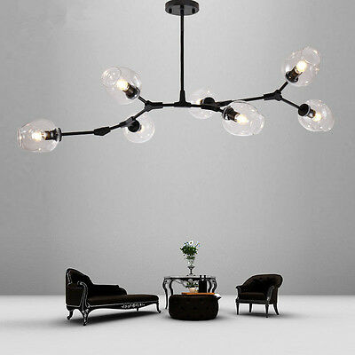 Large Chandelier Lighting Glass Pendant Light Bar LED Lamp Modern Ceiling Lights
