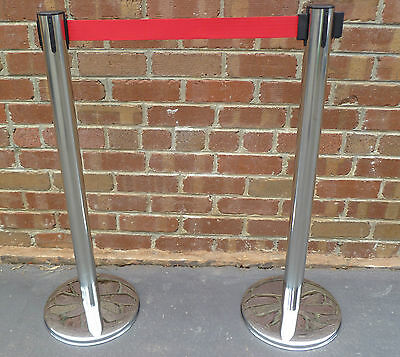 New Stainless Steel Rope Bollards Barriers / Crowd Control Barriers