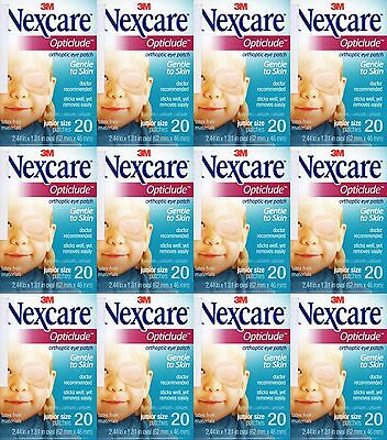 Nexcare 3M Opticlude Eye Patch Junior Size 12 Boxes 240 Pcs Orthoptic Exp 2021