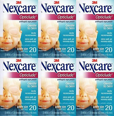 Nexcare 3M Opticlude Eye Patch Junior Size 6 Boxes 120 Pcs Orthoptic Exp 2021