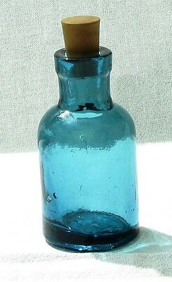 Antique green glass bottle vial very rare vintage old empty collectible