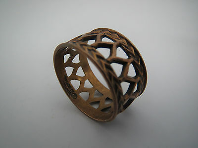 "seltener BRONZE RING ""Finnland DESIGN "" bronce vintage RING 18 mm !"