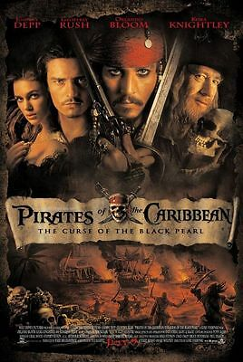 "PIRATES OF THE CARIBBEAN CURSE.. 2003 Original DS 2 Sided 27X40"" US Movie Poster"