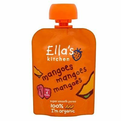 Ella's Kitchen Mangoes Mangoes Mangoes From 4m 70g Pouch 1 2 3 6 Packs
