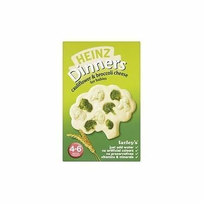 Heinz Dinners Cauliflower & Broccoli Cheese 4-6 Months 125g 1 2 3 6 Packs