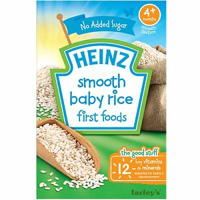 Heinz Smooth Baby Rice First Foods 4m+ 100g Box 1 2 3 6 Packs