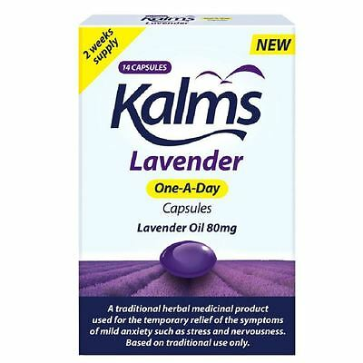 Kalms Lavender Oil 80mg One A Day 14 Capsules 1 2 3 6 Packs
