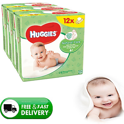 Huggies Natural Care Baby Wipes - 12 Packs (672 Wipes Total) -  0% Alcohol
