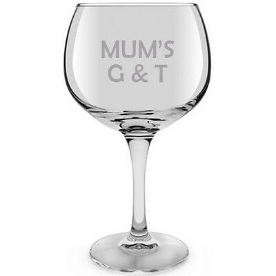 Personalised Gin Glass, Gin Goblet, G & T design, 59cl, 22cms