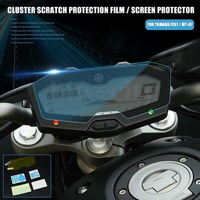Cluster Scratch Protection TPU Screen Protector Guard Film For Yamaha FZ07 MT-07