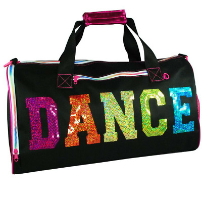 NEW Dance Ballet Overnight Black Bag Ballerina Girls Kids Dancer