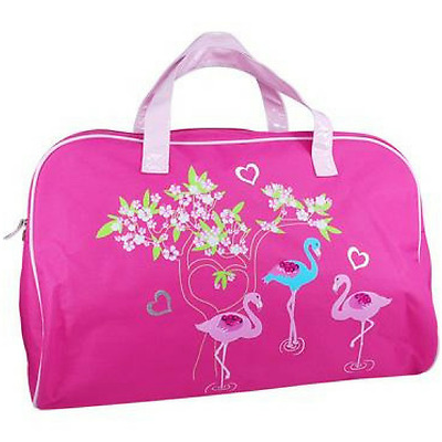NEW Overnight Bag for Girls Flamingo Great Large Size by Pink Poppy