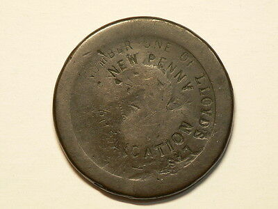 "1797 Penny, Stamped  ""Number  One Of Lloyds Last New Penny Publication"" #G4363"
