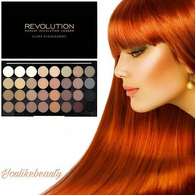 Makeup Revolution 32 Ultra Professional Eyeshadows Palette FLAWLESS MATTE