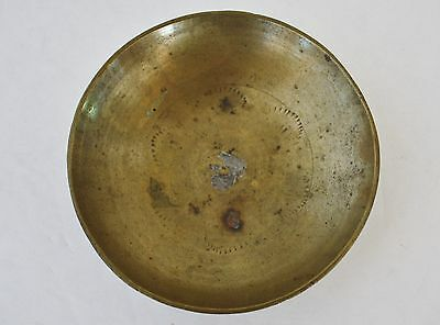 Vintage Trinket Holder Dish Bowl Solid Brass Small round China