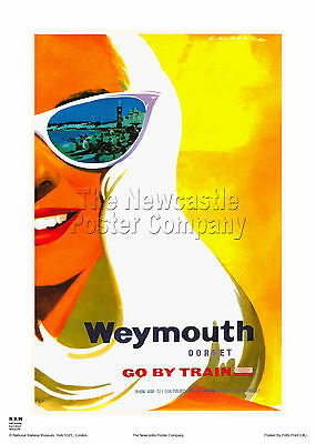 Weymouth Dorset Vintage Railway Travel Poster Retro Advertising Art Print