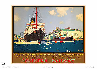 Dover Kent Holiday Retro Art Vintage Railway Travel Poster Advertising Print
