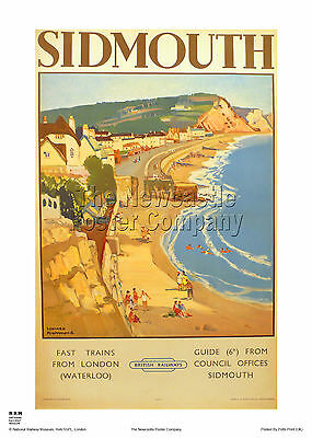Sidmouth Devon Poster Retro Vintage Holiday Advertising Railway Travel  Print