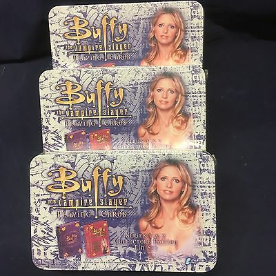 1 NEW Buffy The Vampire Slayer Playing Cards Series 1 & 2 Collectors Edition Tin